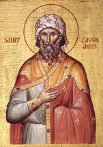 Icon of Zacchaeus - 20th c. - (1ZA15)