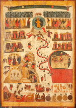 Icon of the Last Dreadful Judgment - 16th c. Novgorod - (11E04)