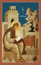 Icon of St. Ephraim the Syrian (sitting) - (1EP14)