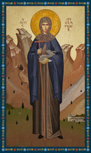 Icon of St. Melangell of Wales - 20th c. - (1ML10)