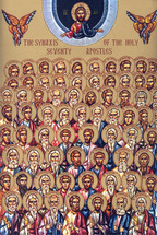 Icon of the Synaxis of the 70 Apostles - (1AP15)