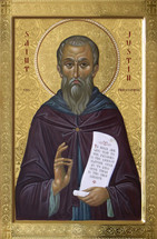 Icon of St. Justin Martyr the Philosopher - 20th c. - (1JU12)