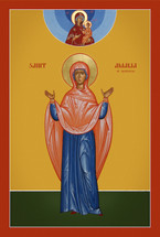 Icon of St. Amalia of Maubeuge - 20th c. (1AM15)