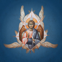 """Icon of Christ the """"Angel of Great Council"""" - 20th c - (11S32)"""