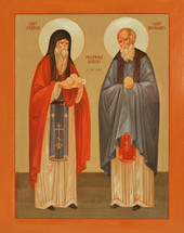 Icon of Sts. Spyridon & Nicodemus the Prosphora Makers - (1SN10)