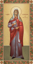 Icon of St. Eudoxia the Virginmartyr - 20th c. - (1EU13)