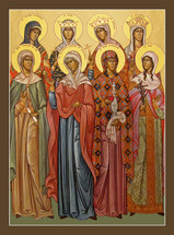 Icon of the Choir of Holy Mothers - English - (11L25)