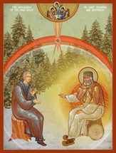 Icon of the Appearance of the Holy Spirit to St. Seraphim & Motovilov  - (1SE17)