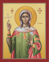 Icon of St. Victoria of Carthage - 20th c. - (1VI20)