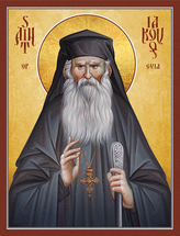 Icon of St. Iakovos of Evia - 20th c. - (1IA10)