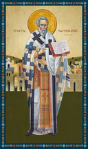 Icon of St. Ambrose of Milan - (1AM20)