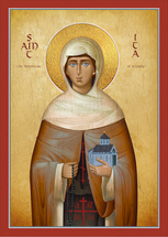 Icon of St. Ita of Killeedy - 20th c. - (1IT10)