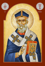 Icon of St. Martin of Tours (bust) - (1MA16)