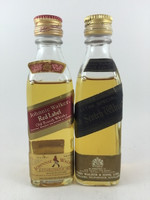 SOLD! JOHNNIE WALKER RED & BLACK LABEL 50ML