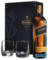 JOHNNIE WALKER BLUE LABEL GIFT PACK WITH CRYSTAL GLASSES