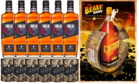 BUNDABERG ORIGINAL UP RUM STATE OF ORIGIN CASE OF 6 BONUS BEAST OF BUNDY POSTER & 6 MUTINY COOLERS