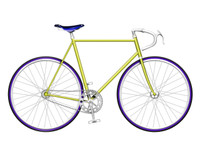 Yellow Single Speed Bike