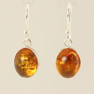 Amber & Silver Earrings