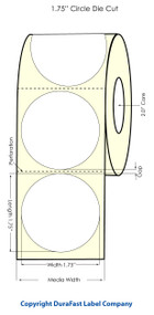 Primera LX400 1.75 inch Circle High Gloss Labels   74713   Paper Labels