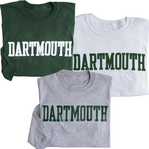 Adult Dartmouth T-shirt Blockword Long Sleeve