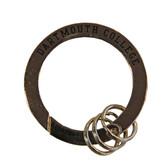 Round Carabiner Chrome Key Chain