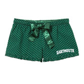 Women's Green Swiss Dot Boxers