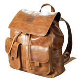 Leather Embossed Rucksack - Tan