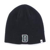 Black Beanie Knit D Hat