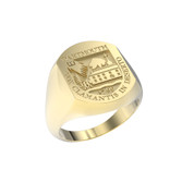 Ring Pill Large Full Shield 14K Gold
