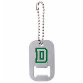 Dog Tag D Bottle Opener Key Chain
