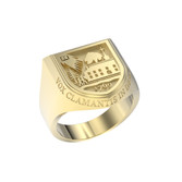 Ring Crest Large Shield 14K Gold