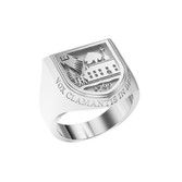 Ring Crest Large Shield Sterling Silver