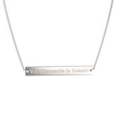 Sterling Silver Vox Bar Necklace