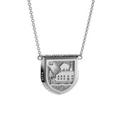 Sterling Silver Crest Necklace