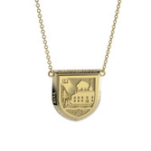 14K Yellow Gold Shield Necklace