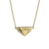 10K Yellow Gold 1769 Mini Delta Pendant Necklace