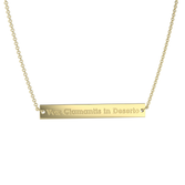 Gold Plated Vox Bar Necklace
