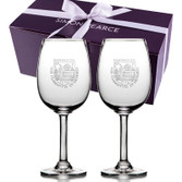 Boxed Set: Simon Pearce Woodstock Red Wine Glasses - Dartmouth Shield