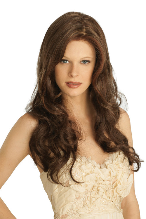 Light Brown Medium Length Hair Color Marble Brown Frosted  Dark Brown Hairs
