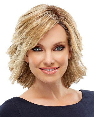 Elizabeth High Heat Synthetic Fiber Wig Front View