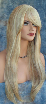 HUMAN HAIR BLEND WIG HEAT SAFE F27.613 GORGEOUS SEXY LONG STRAIGHT STYLE *240