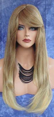 HUMAN HAIR BLEND WIG HEAT SAFE T85 INCREDIBLE HOT HOT LONG STRAIGHT STYLE *239