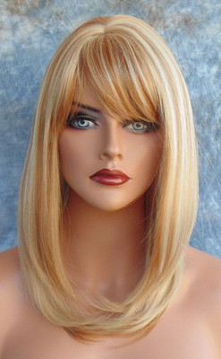 HUMAN HAIR BLEND HEAT FRIENDLY WIG BLONDE F27.613 SEXY FOXY STYLE USA SELLER 185