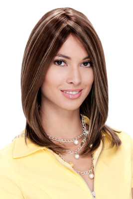 Estetica hair dynasty human hair wigs Celine_FrontLaceLine_front View