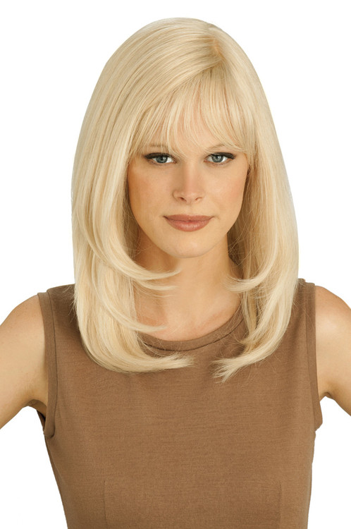 Louis Ferre PC106 Platinum Human Hair Wig front
