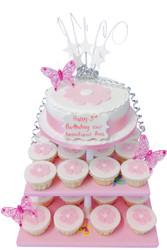 Pink Daisies Cake Tower
