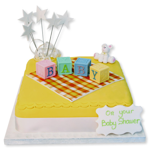 Letter Blocks Baby Cake New Baby Cakes The Brilliant