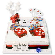 Cards and Dice Cake