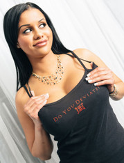 Do You Deviate?™ Swingers Ladies' Spaghetti Strap Tank - Black - L
