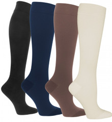 Womens Assorted Colors 4 Pack Compression Socks